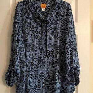 Plus Size Ruby Rd cowl neck Sweatshirt